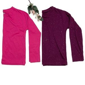 Crazy 8 Glitter Long Sleeve Top Set of 2 Medium